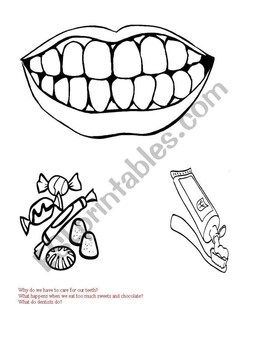 English worksheets: Teeth care