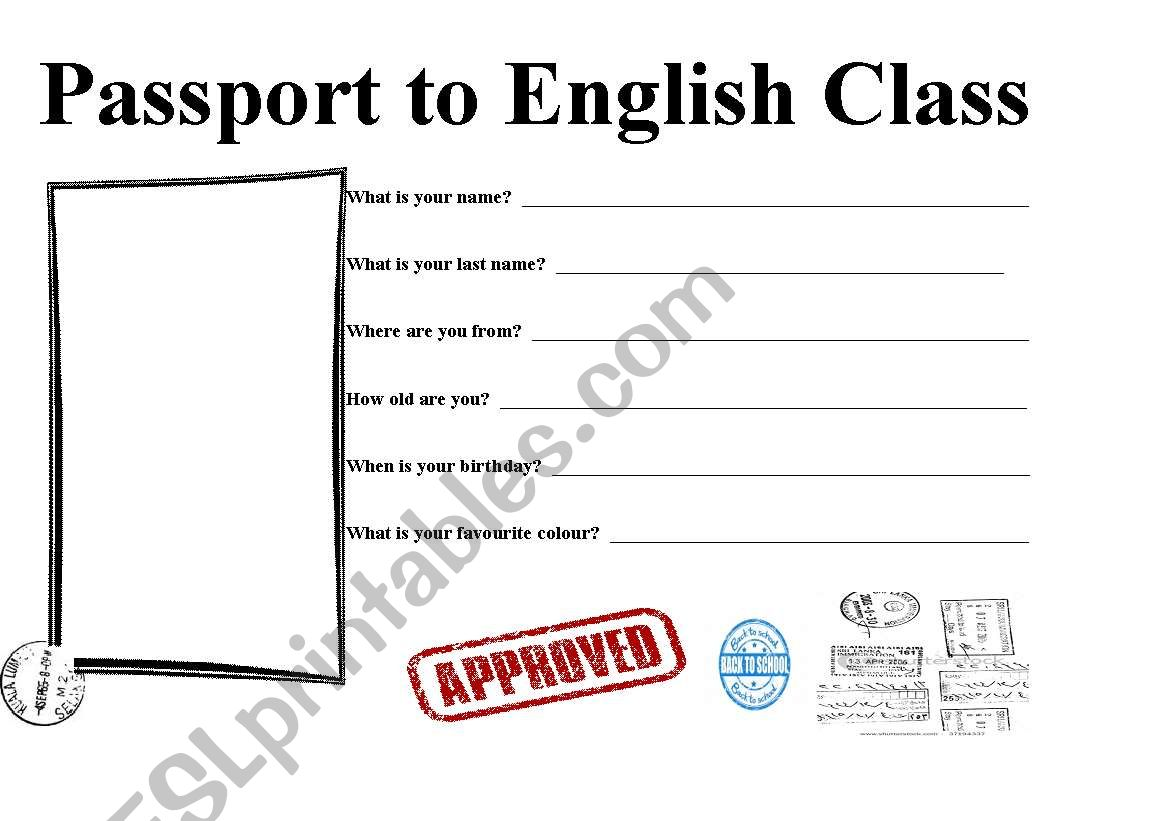 Passport To English Class