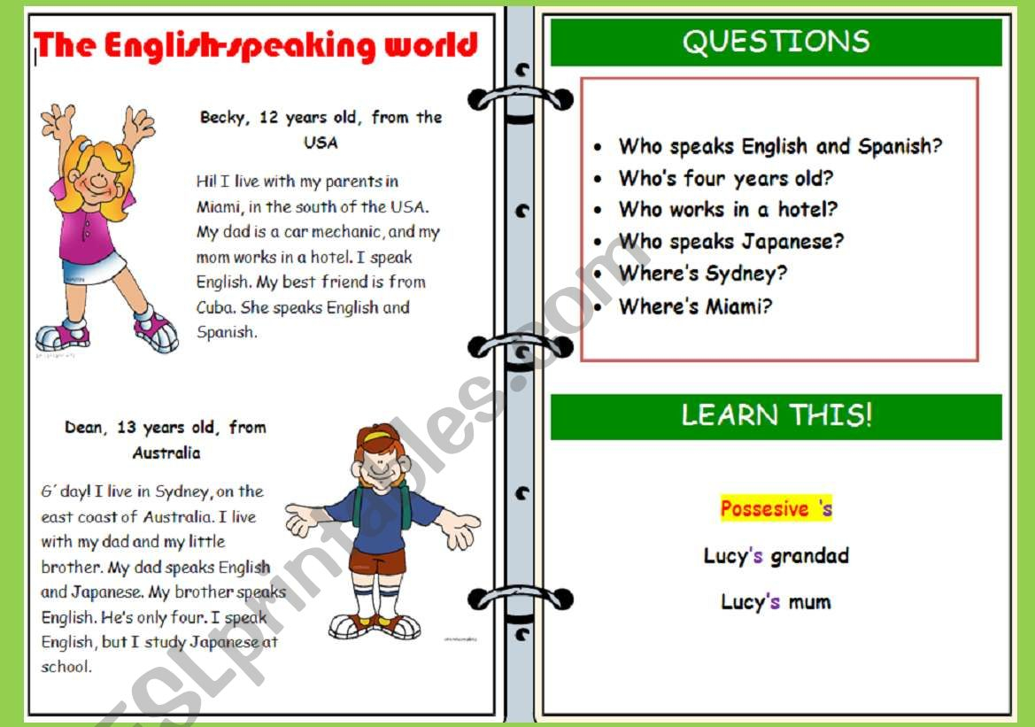 English Speaking World