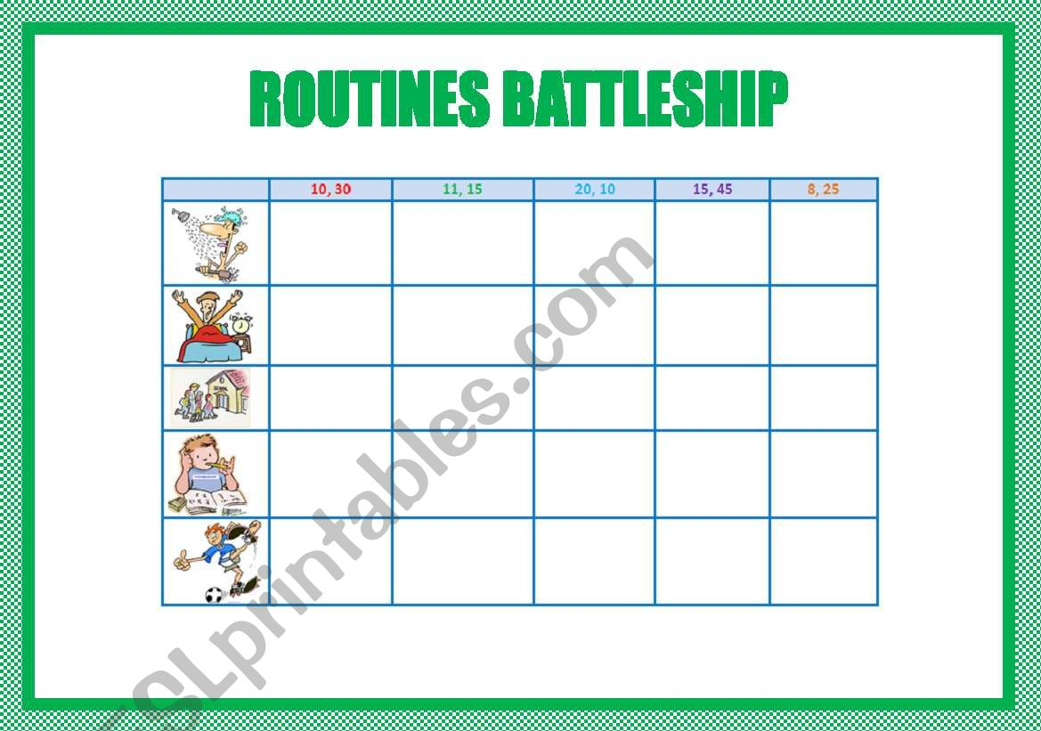 Routines Battleship