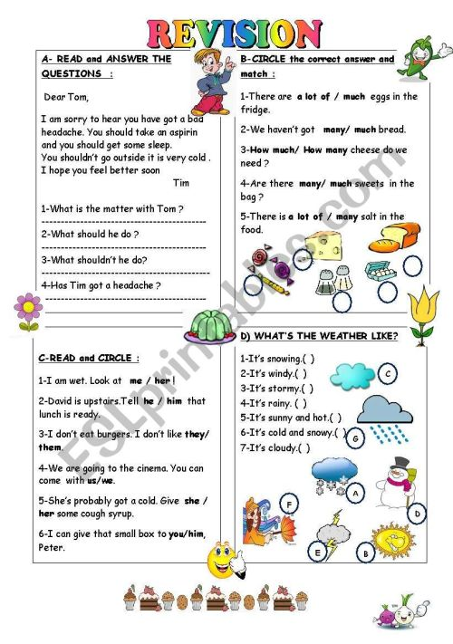 small resolution of REVISION FOR THE 4TH GRADE - ESL worksheet by duygu2