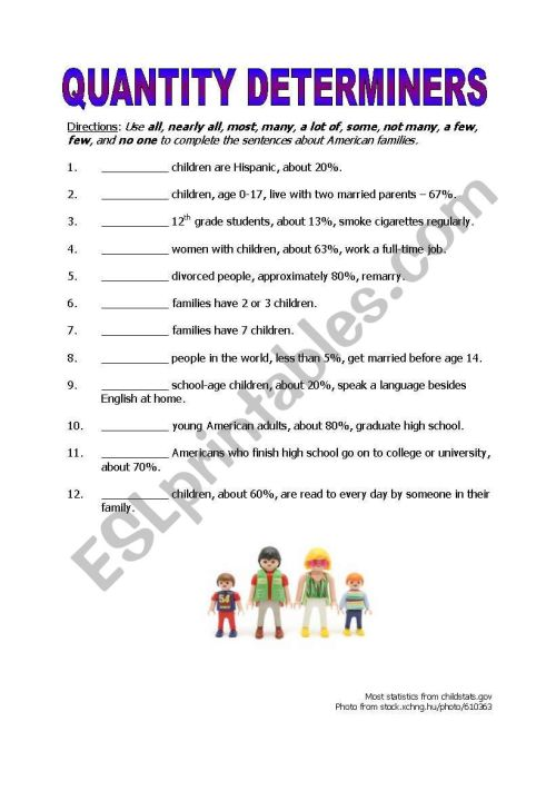 small resolution of Quantity Determiners - ESL worksheet by gofish343