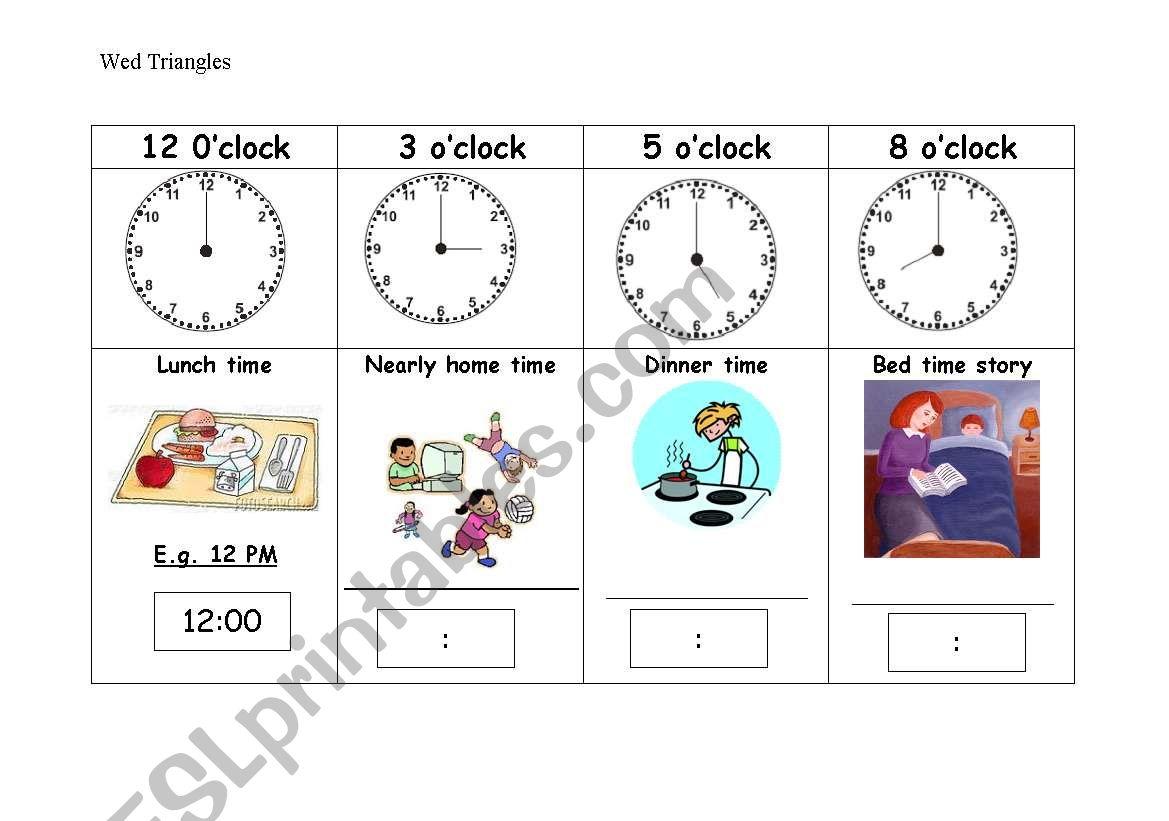 Matching Am Pm O Clock And Digital