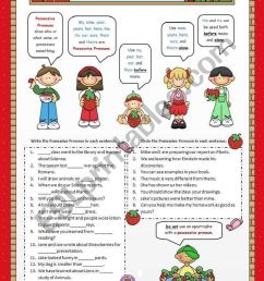 Possessive Pronouns - ESL worksheet by VaneV [ 1169 x 821 Pixel ]