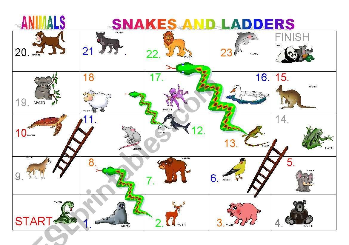 Animal Board Games Printable