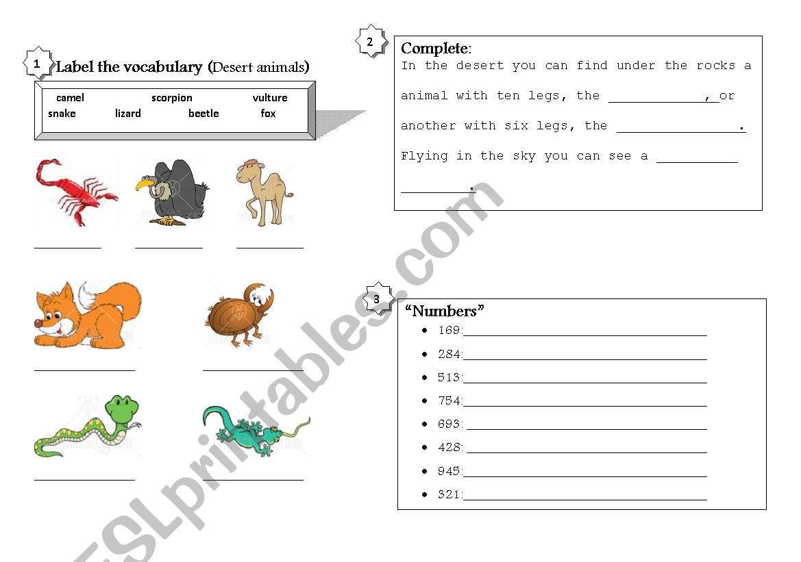 English Worksheets Visiting The Zoo