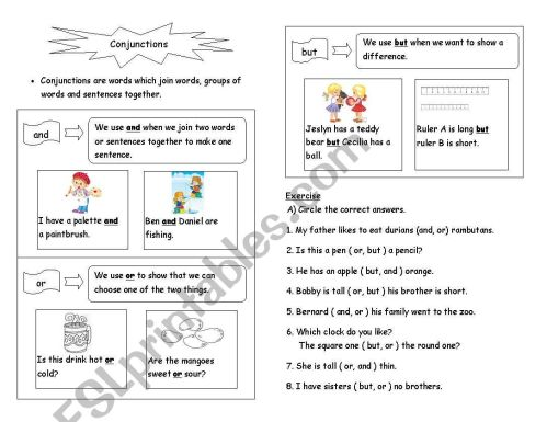 small resolution of Esl Connectors Worksheet   Printable Worksheets and Activities for  Teachers