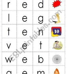 cvc words with short vowel e - ESL worksheet by fleur [ 1169 x 821 Pixel ]