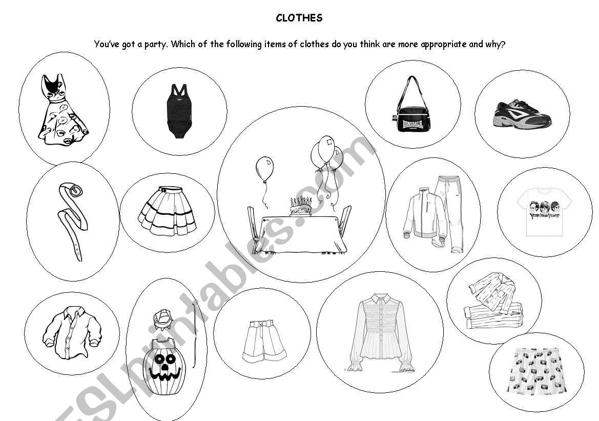 clothes speaking activity PRELIMINARY ENGLISH TEST (PET