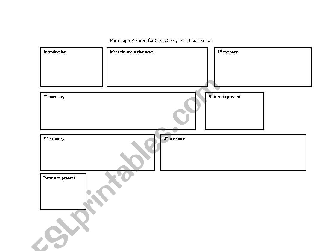 English Worksheets Story Planner