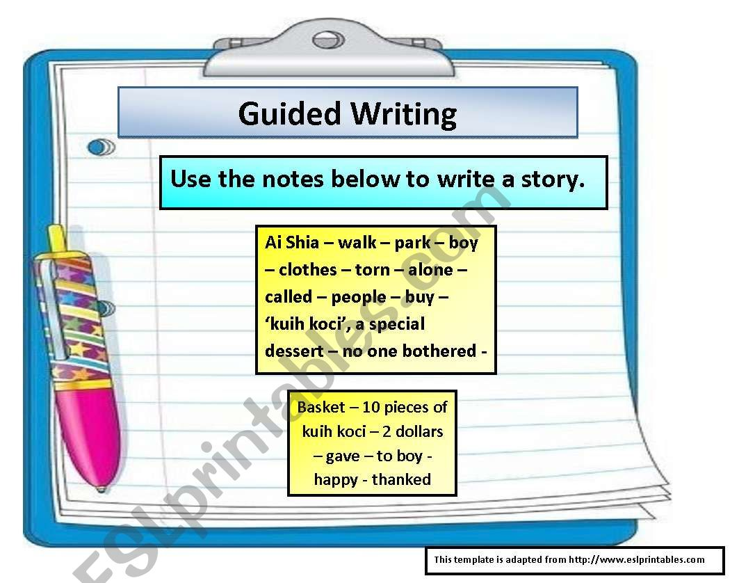 Guided Writing A Story