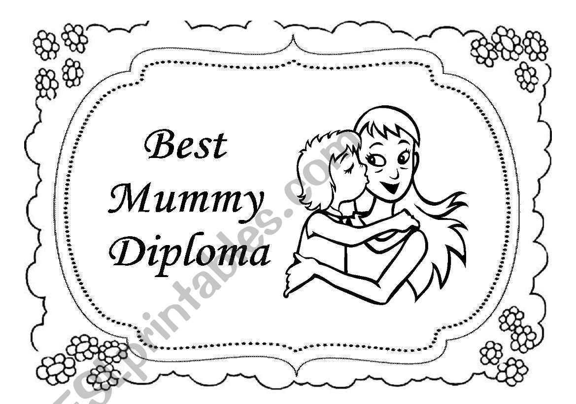 Mother S Day Diploma