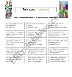 speaking worksheet for 5th grade about family members - ESL worksheet by  shıbumı [ 1169 x 821 Pixel ]