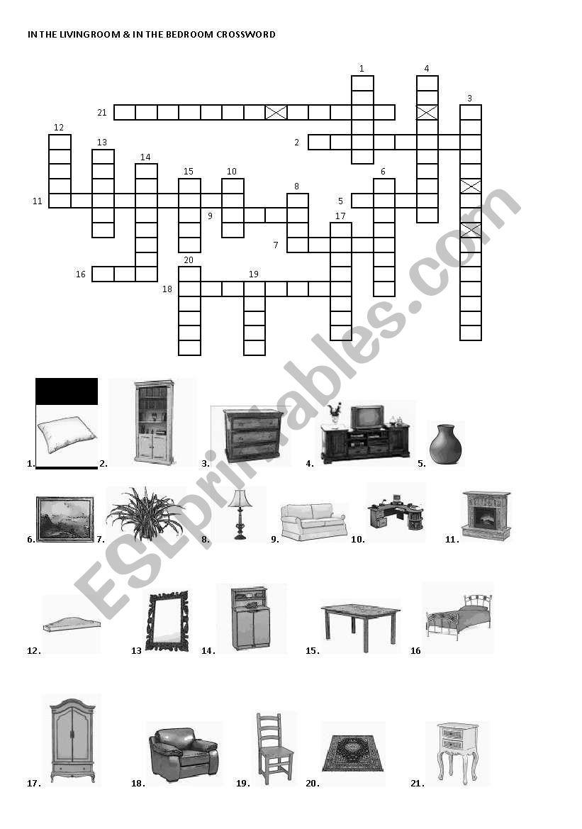 In the livingroom & In the bedroom intermediate furniture