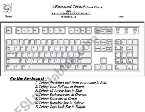 small resolution of computer keyboard - ESL worksheet by mohita