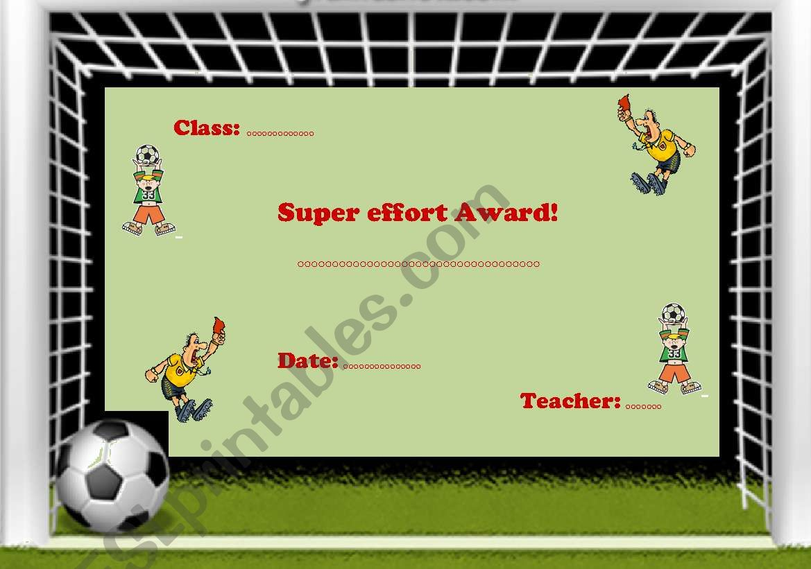 Super Effort Award