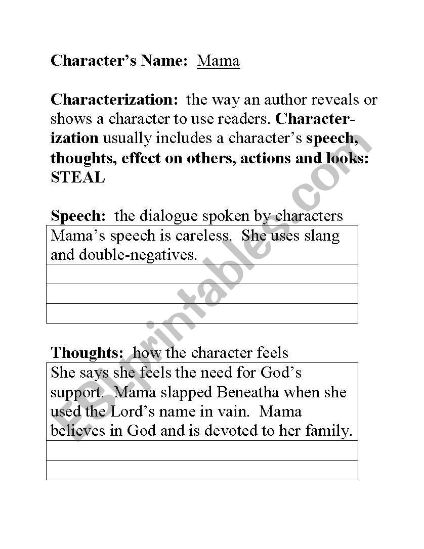 English Worksheets Steal