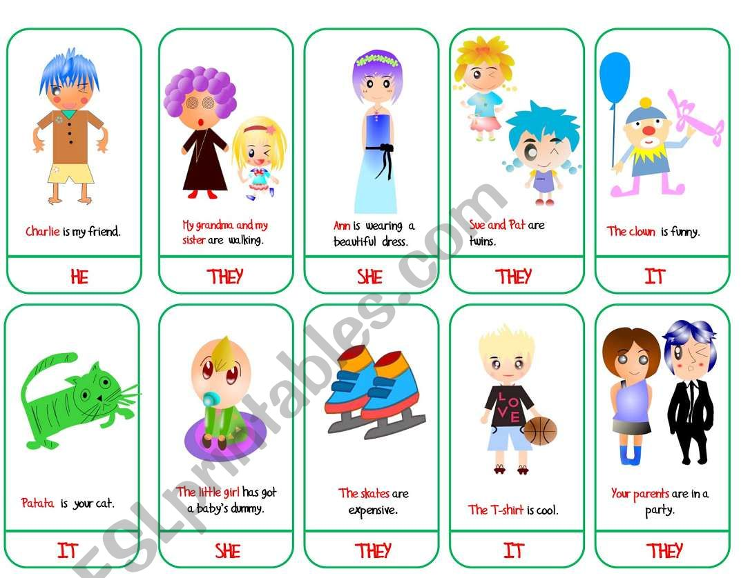 Subject Pronouns Game