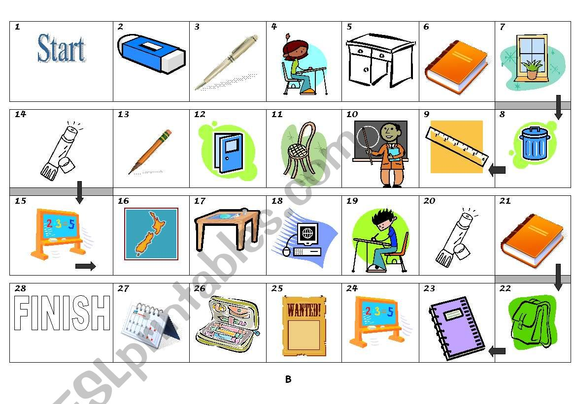 Borad Game Classroom Objects