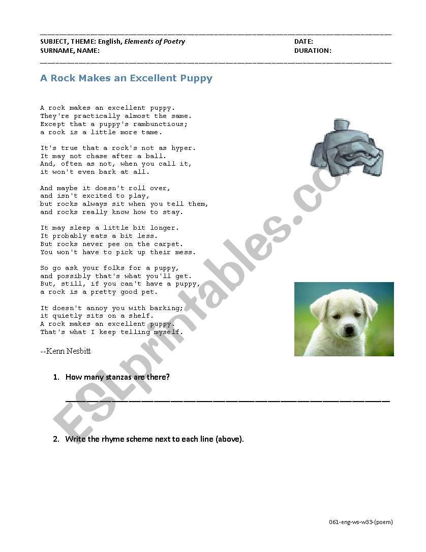 medium resolution of Elements of Poetry (Read poem \u0026 find metaphor