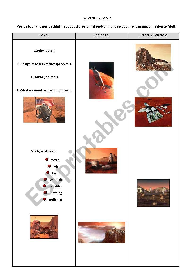 hight resolution of 34 Mission To Mars Worksheet - Free Worksheet Spreadsheet