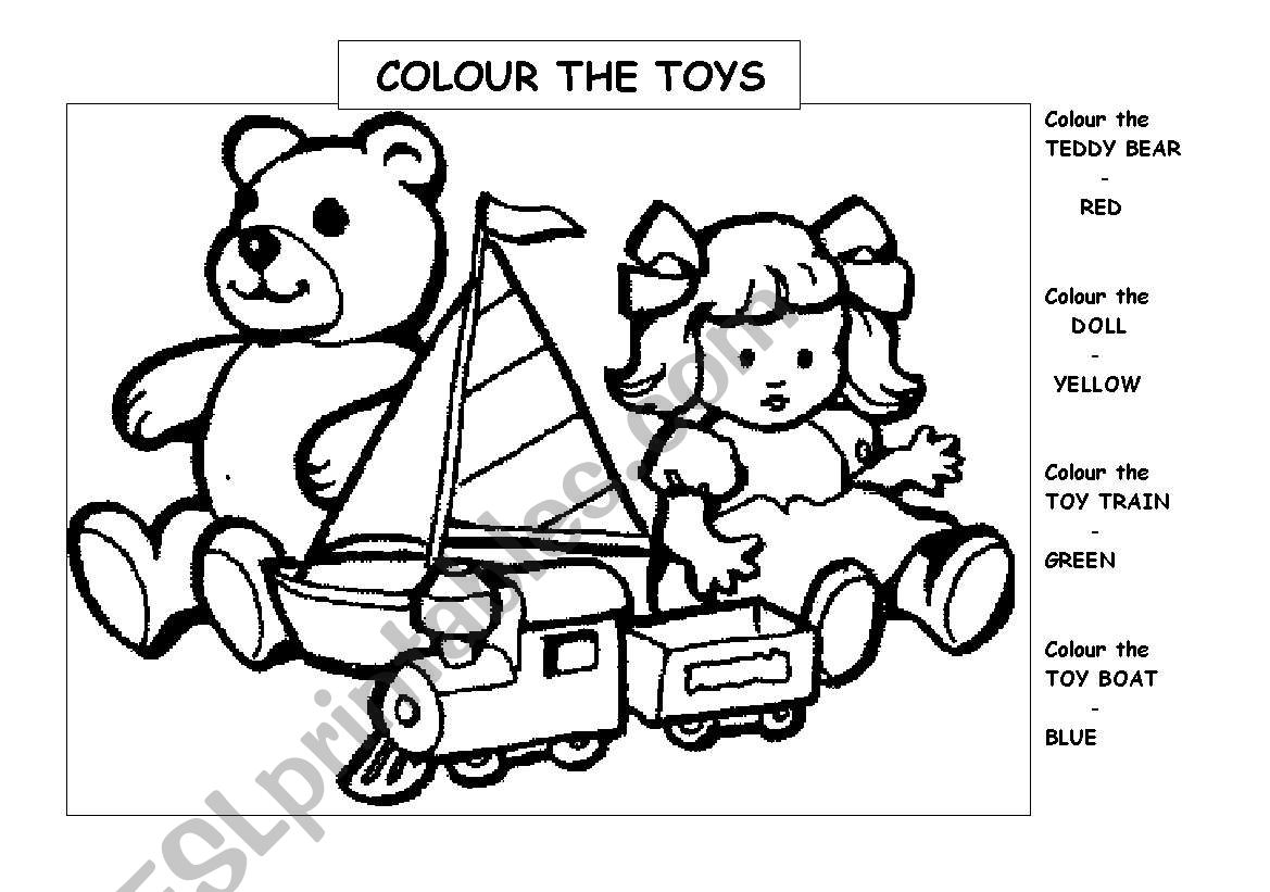 Colour The Toys