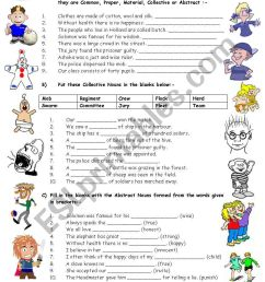EXERCISES ON TYPES OF NOUNS - 4 Pages (Editable with Key) - ESL worksheet  by vikral [ 1169 x 821 Pixel ]