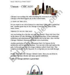 reading passage on Chicago [ 1169 x 821 Pixel ]