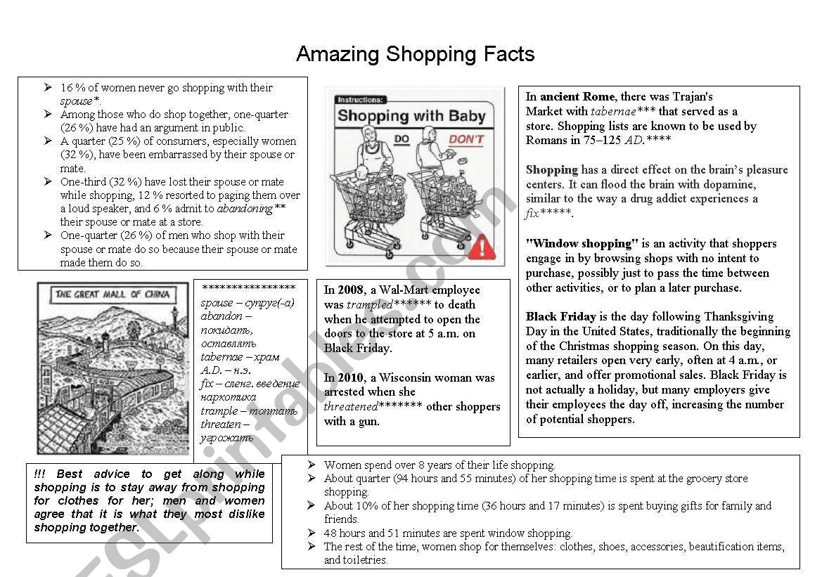 Amazing Shopping Facts