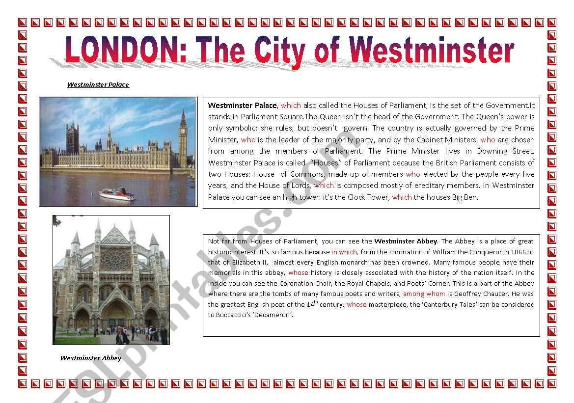 London The City Of Westminster