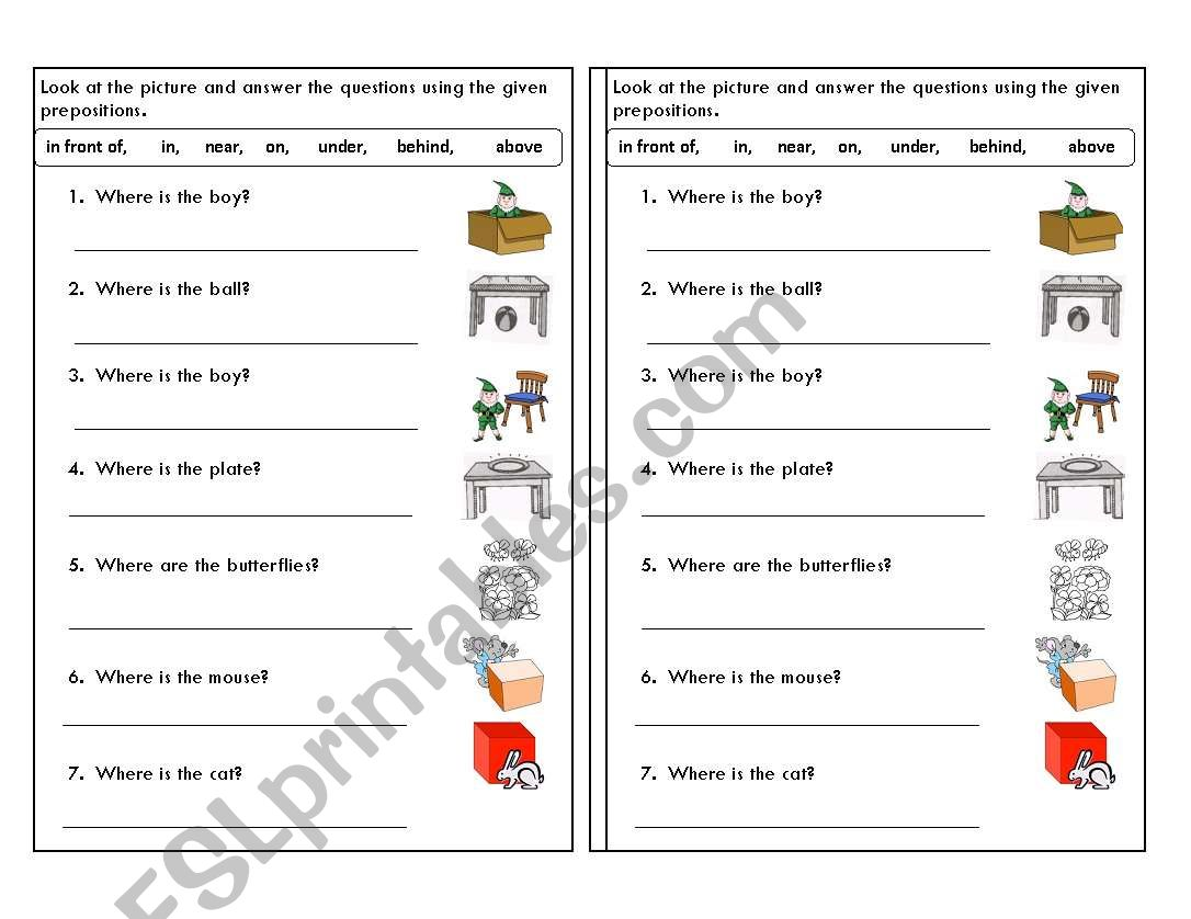 hight resolution of Prepositions Worksheet Notes   Printable Worksheets and Activities for  Teachers