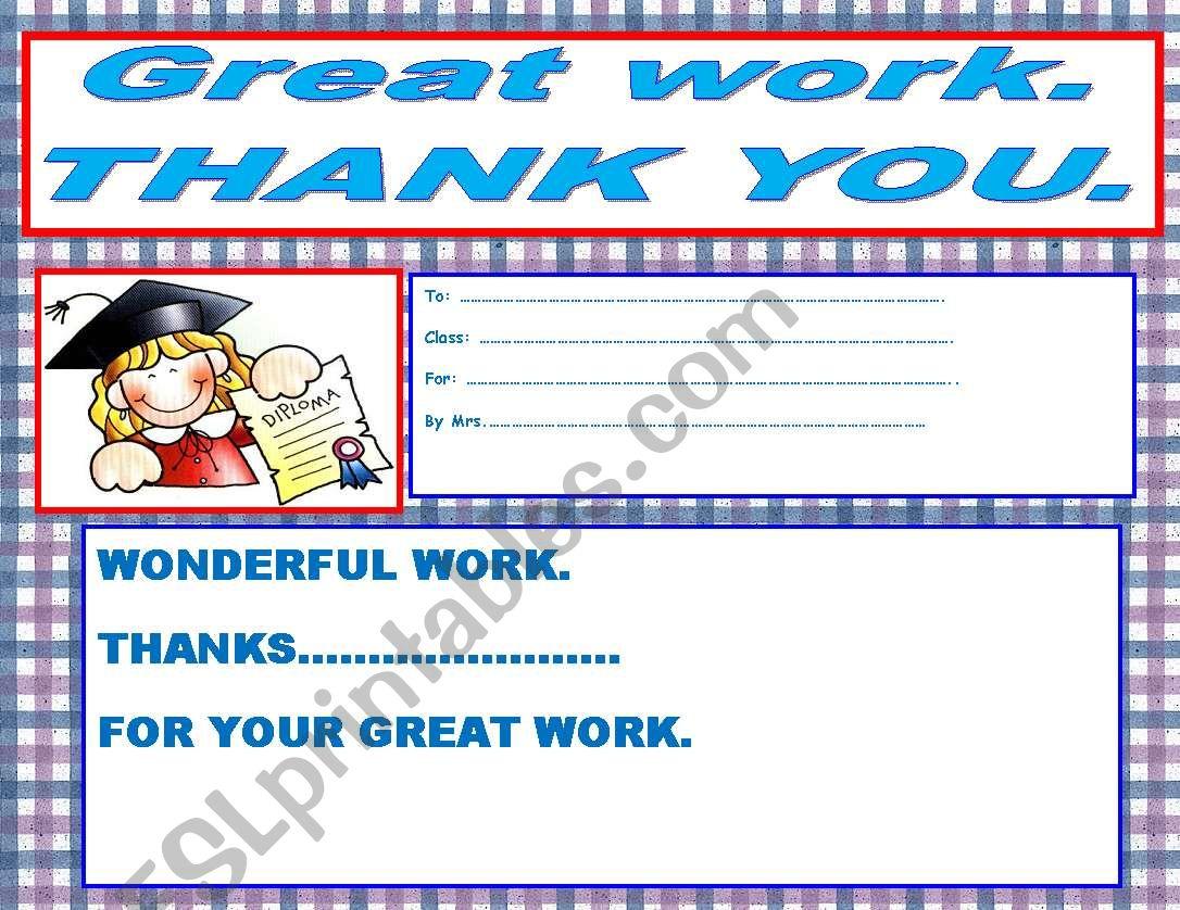 Grat Work