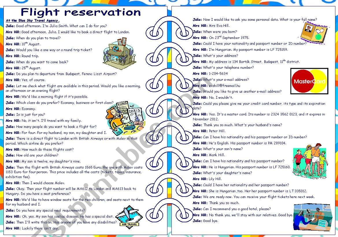 Flight Reservation Role Play Part 1 2