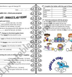 Past simple - irregular verbs - ESL worksheet by 5839 [ 821 x 1169 Pixel ]