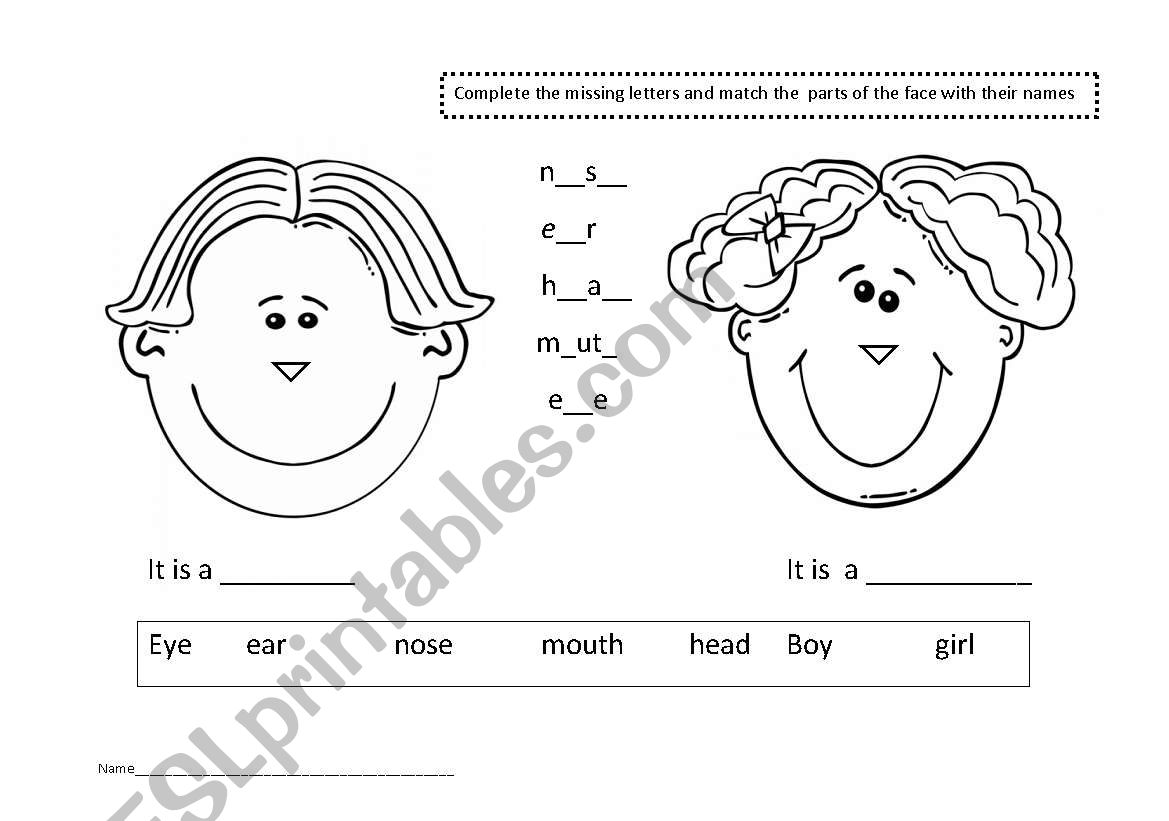 Body Parts And Clothes Worksheet