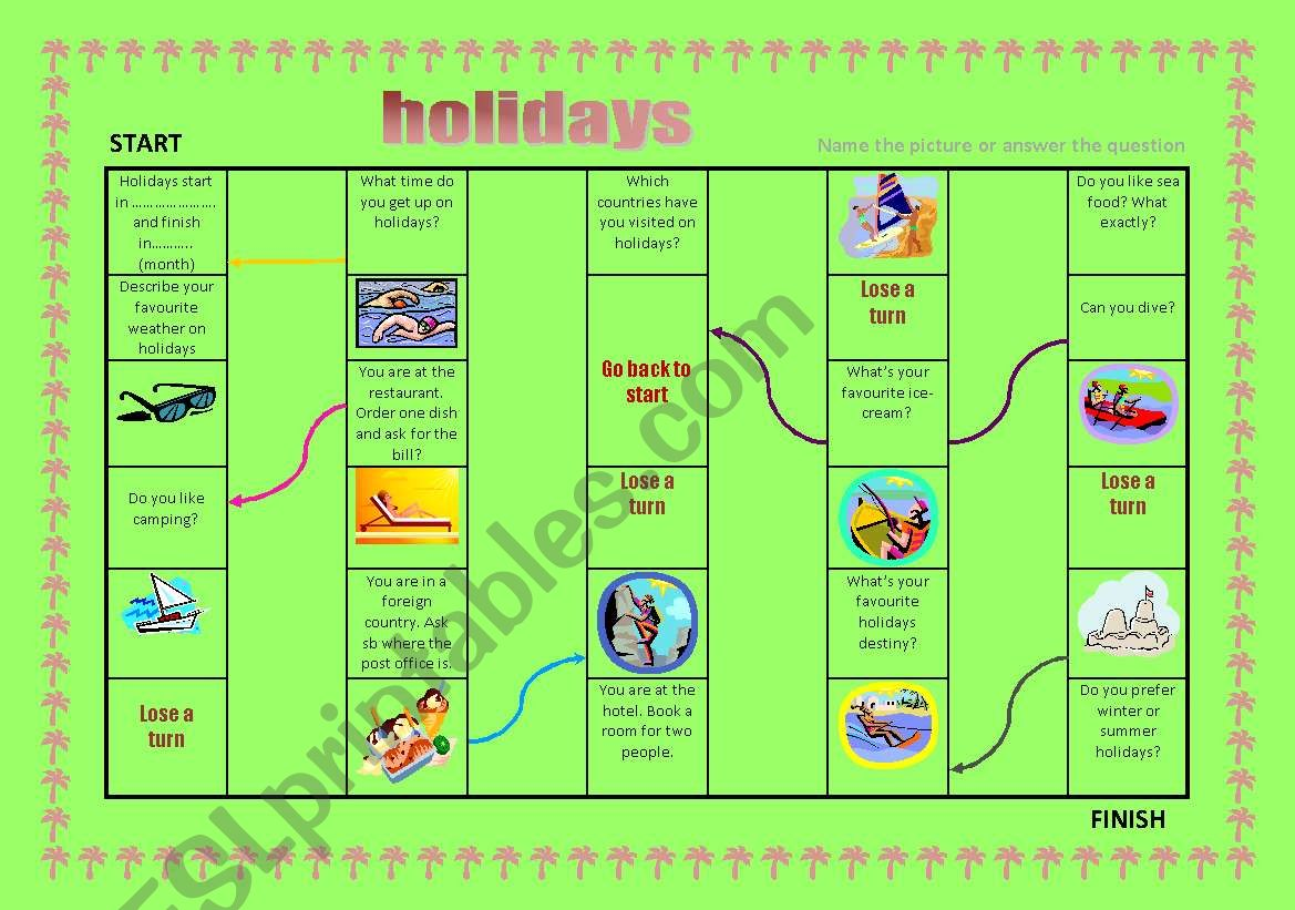 Holidays Board Game