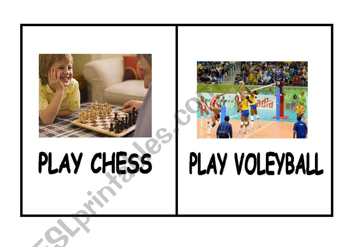 English Worksheets I Can Play Chess