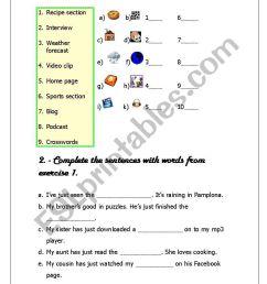 Mass Media Vocabulary - ESL worksheet by butterfly10 [ 1169 x 821 Pixel ]