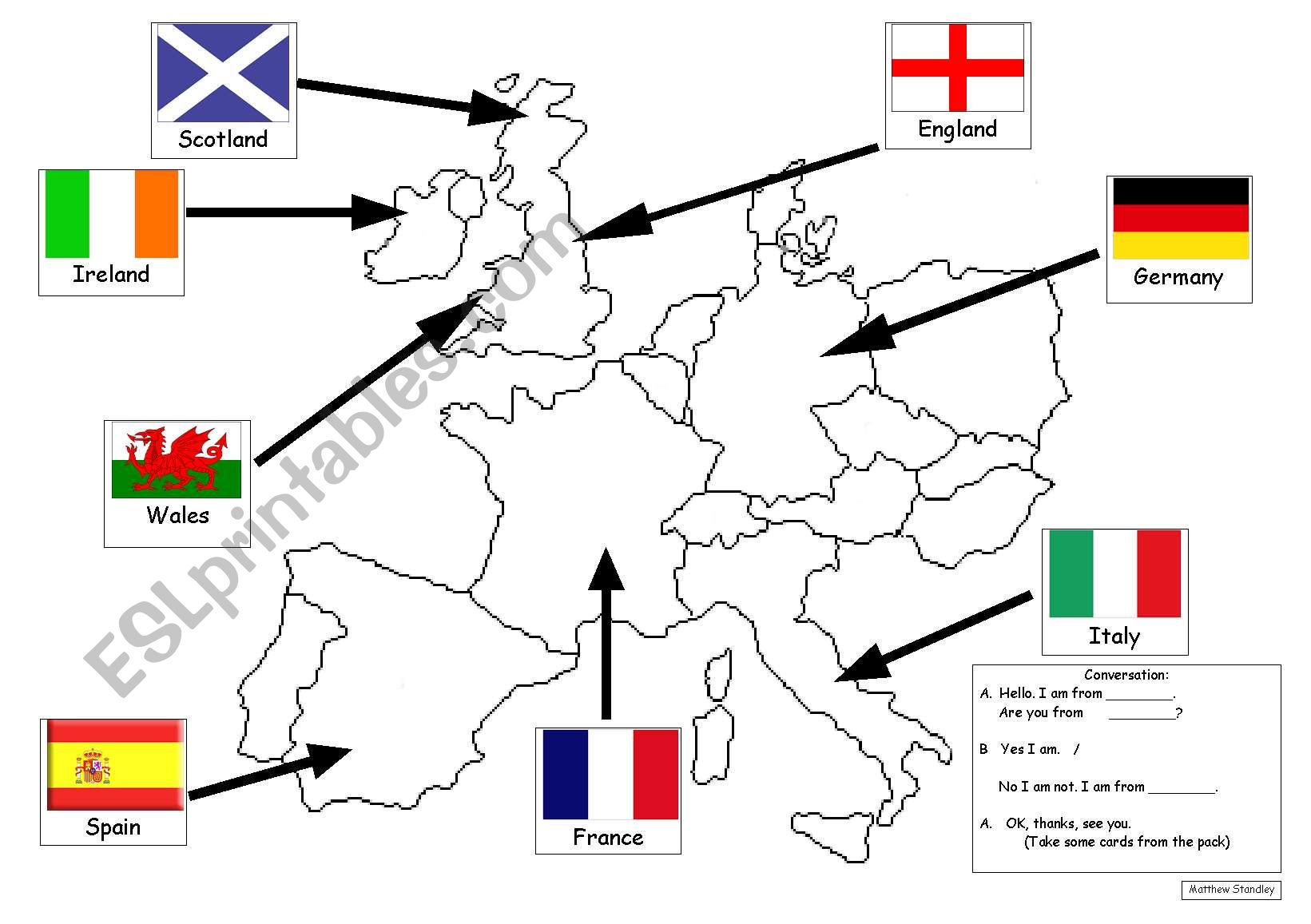 I Am From England European Country