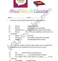 Phrasal verbs related to education - ESL worksheet by kuesko [ 1169 x 821 Pixel ]