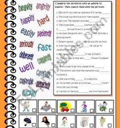 Adverbs of Manner - ESL worksheet by esther1976 [ 1169 x 821 Pixel ]