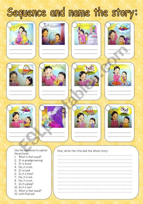 small resolution of Sequence the story - ESL worksheet by Rumeisa