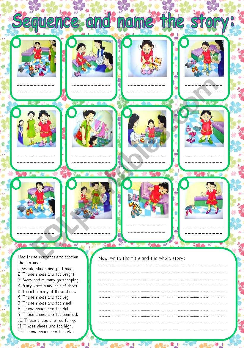 medium resolution of Sequence the story - ESL worksheet by Rumeisa