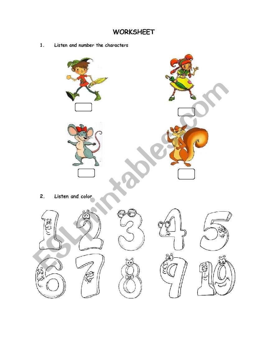 English worksheets: TEST: Treetops 1 unit 1