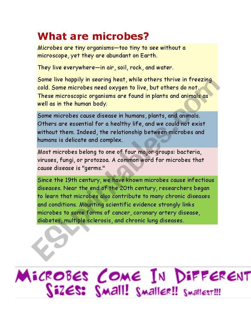 medium resolution of Microorganisms Worksheet Ks2   Printable Worksheets and Activities for  Teachers