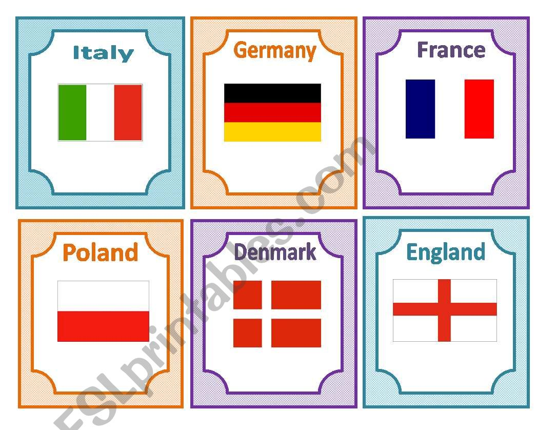 Flashcards About European Countries