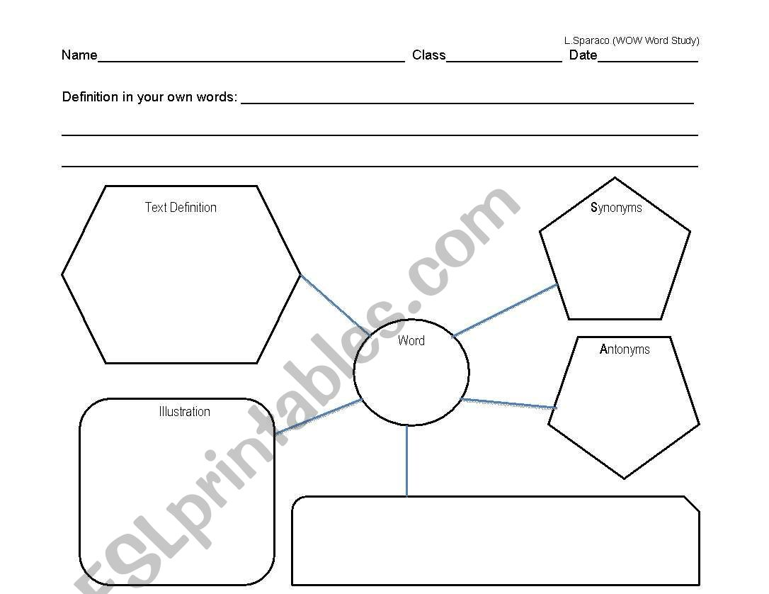 English Worksheets Vocabulary Word Study Worksheet
