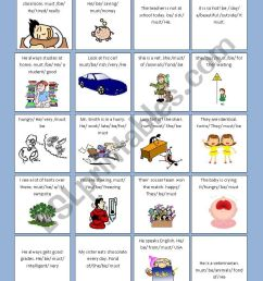 DRAWING CONCLUSIONS WITH \ MUST BE\ - ESL worksheet by barbarachiote [ 1169 x 821 Pixel ]