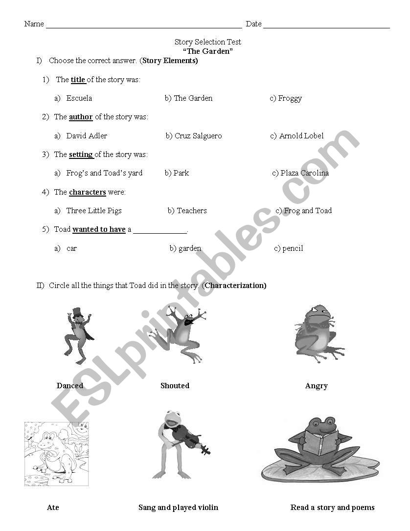English worksheets: The Garden