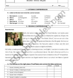 English test 6th grade - ESL worksheet by sonita75 [ 1169 x 821 Pixel ]